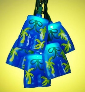 bermuda shorts tropical party lights