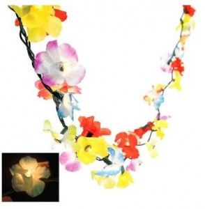 flower lei lights