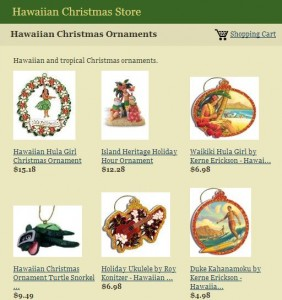 hawaiian christmas store