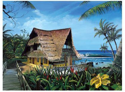 hawaiian wall murals