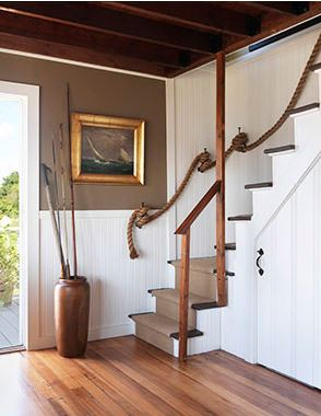 nautical rope stairway