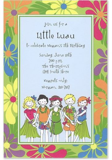 little luau invitations