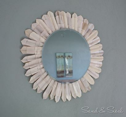 how to make a circle shell mirror