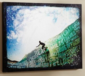 surf words art