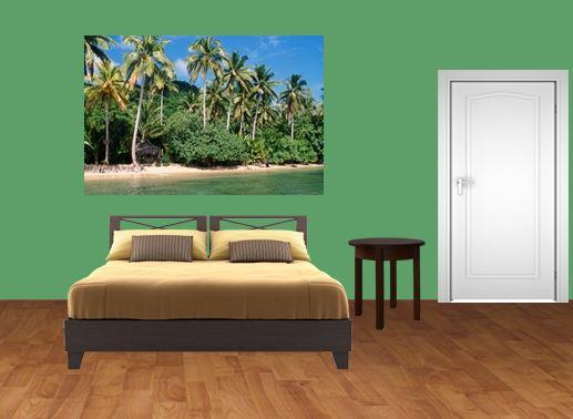 tiki bedroom wall mural