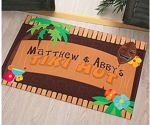 tiki hut door mat