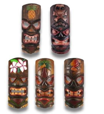 tiki wall masks
