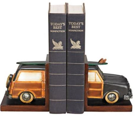 woody car book ends
