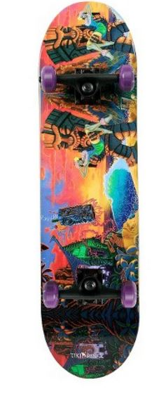 tiki and shark longboard