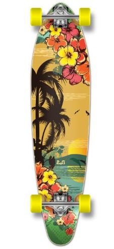 tropical surfer longboard