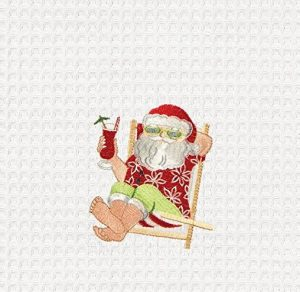 santa christmas beach towel