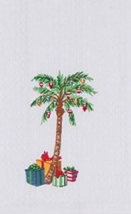 christmas plam tree towel