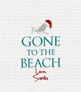 gone to the beach towel