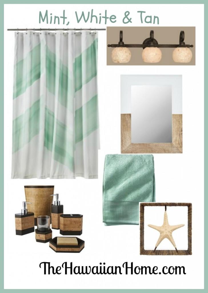beach mint green bathroom decor