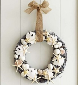 faux shell wreath