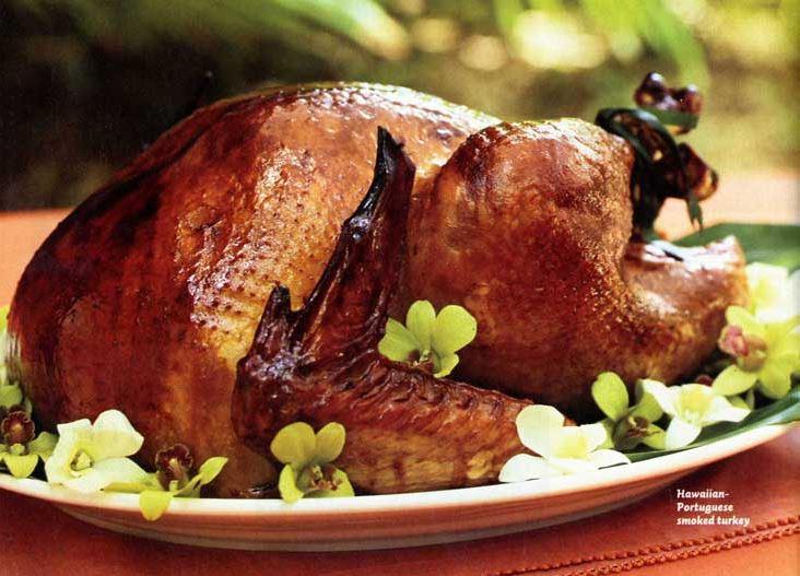 Hawaiian Portuguese Smoked Turkey