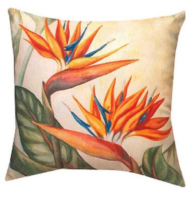 bird of paradise pillow