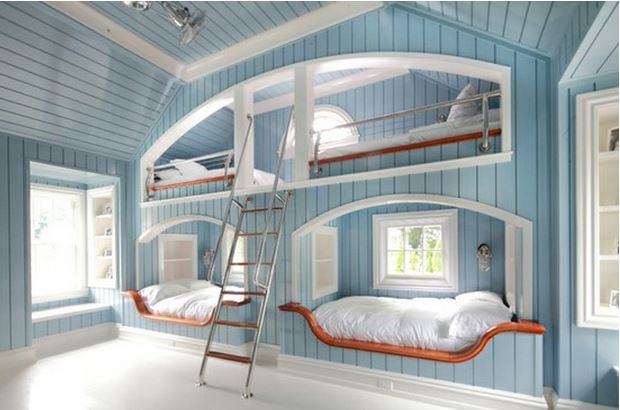 built in beach bunk beds