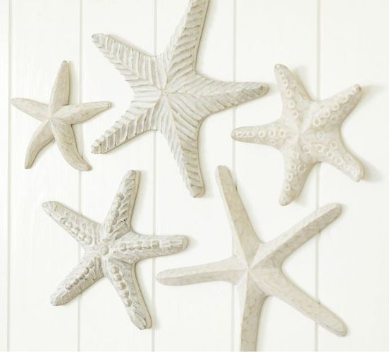 carved wood starfish