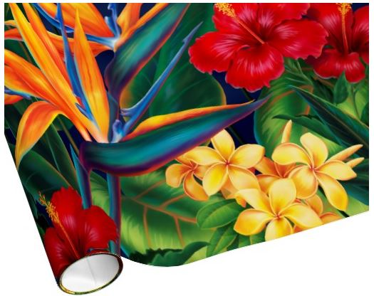 hawaiian wrapping paper
