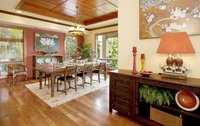 hawaiian living room design