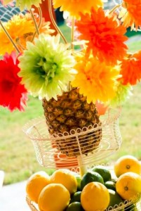 floral pineapple centerpiece