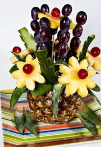fruit pineapple centerpiece