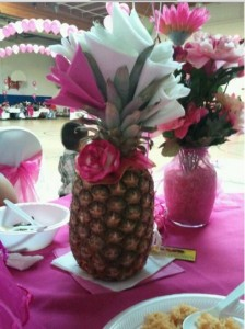 pineapple centepiece napkin holder