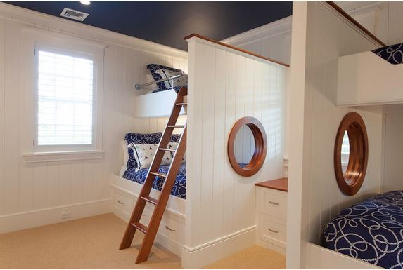nautical bunk bed with porthole