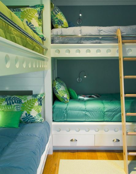 tropical bunk bed