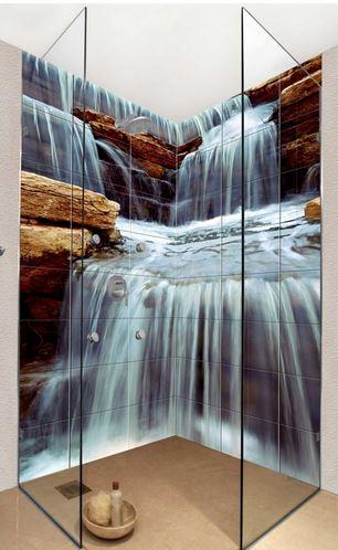 waterfall bathroom tile