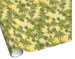 yellow pineapple wrapping paper