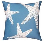 nautical starfish pillow
