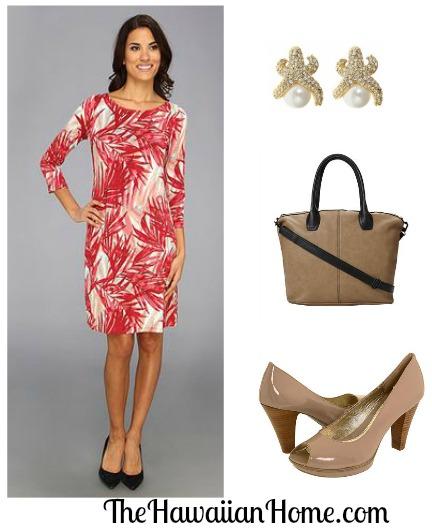 tropical office dress