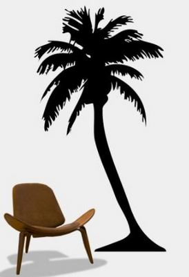 Tall Palm Tree Sticker