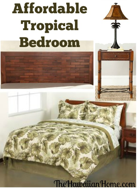 affordable tropical bedroom