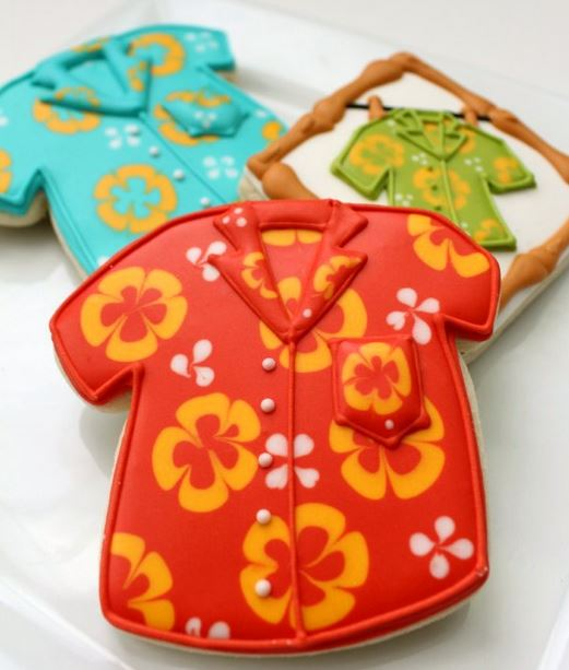hawaiian shirt cookie tutorial