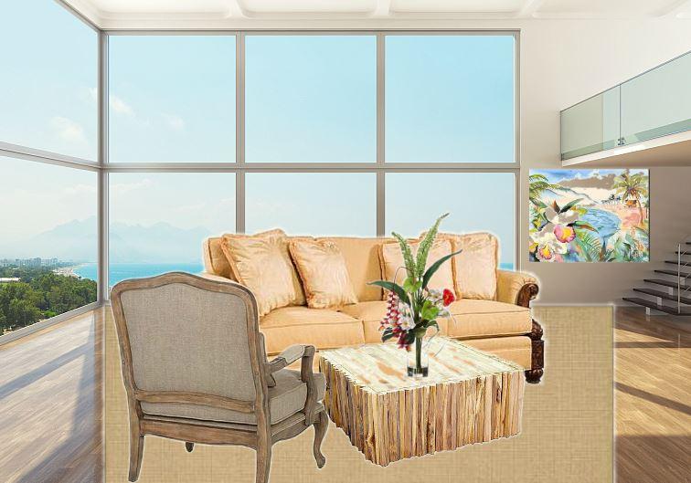 hawaiian living room minimalist