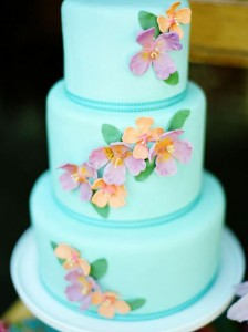 turquoise tropical cake