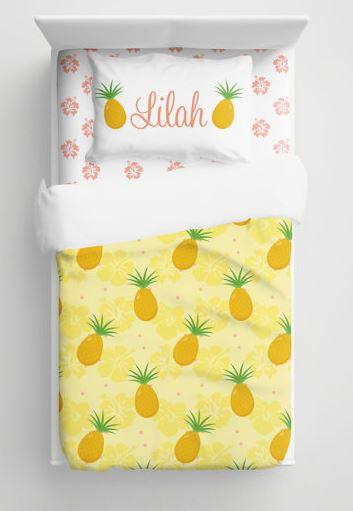 custom pineapple bedding