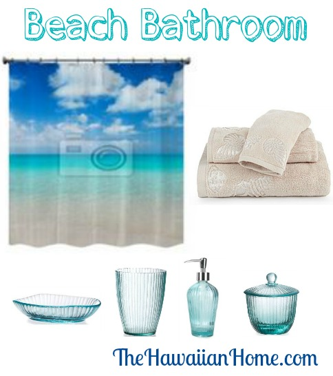 relaxing beach bathroom decor