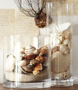 glass beach vase