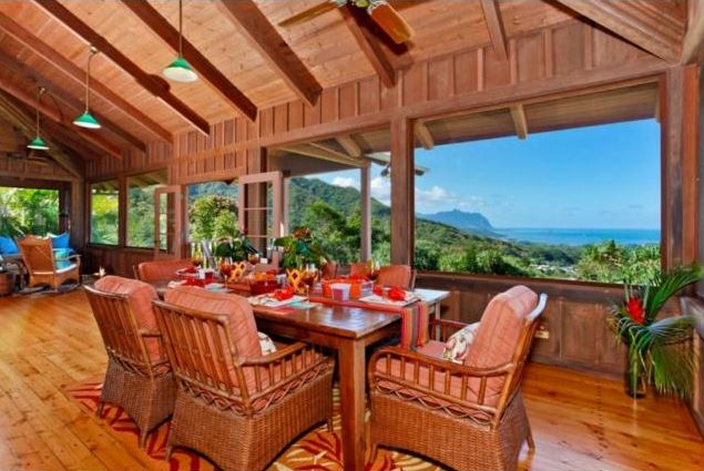 hawaiian dining room design
