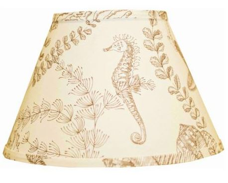 nautical seahorse lamp shade