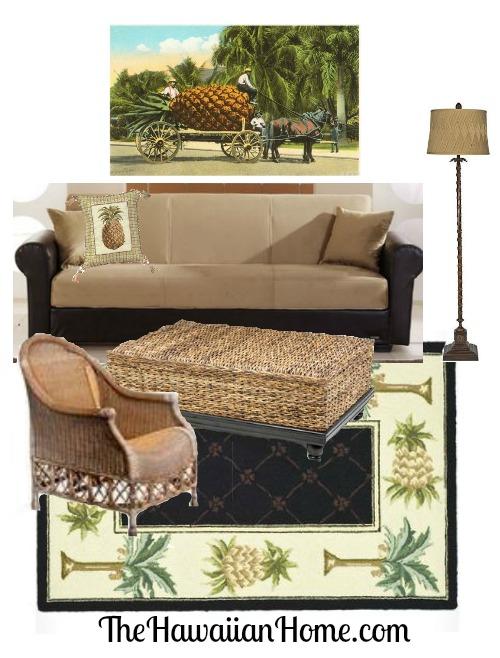 pineapple living room design
