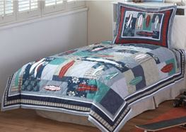 surfing quilt on sale