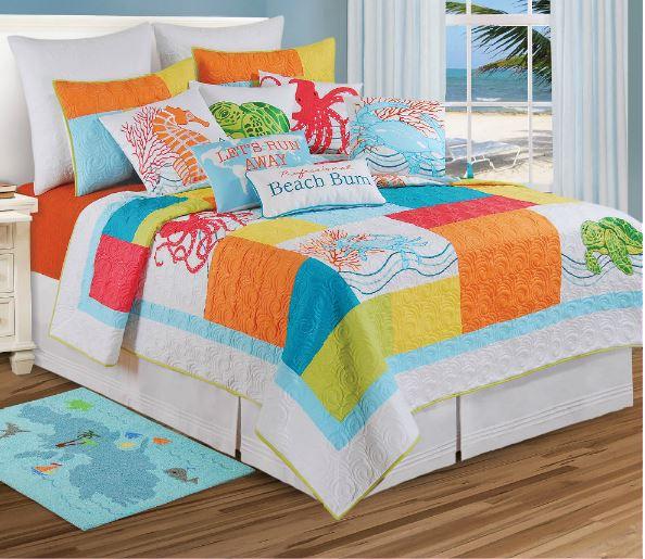 bright tropical bedding