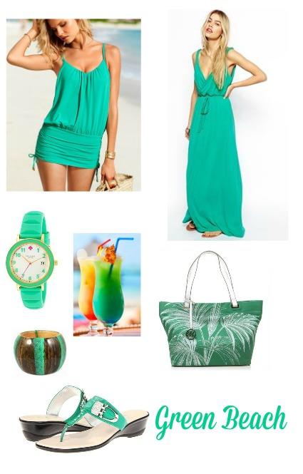 green beach fashion