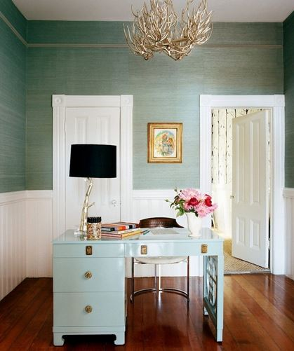 green grasscloth wallpaper ideas