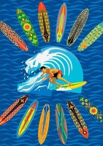 surfer dude rug on sale